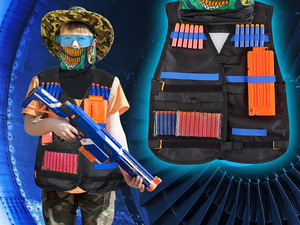 Pad your little Nerf warrior with Elover's $13 Kids Tactical Vest Kit