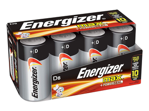This 8-pack of Energizer Max D batteries is down to $6 via Amazon