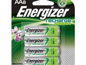 Keep your gear charged up with Energizer's 8-pack of rechargeable AA batteries for $12
