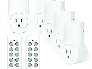 Control up to 5 outlets around your home with this $21 Etekcity remote control package