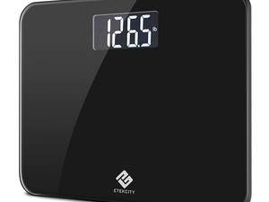 Weigh yourself whenever with the $23 Etekcity Digital Bathroom Scale