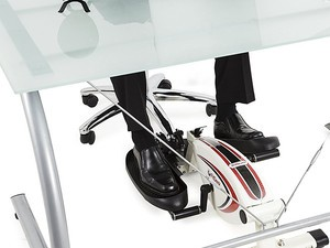 Work out while you work with this $80 FitDesk under-desk elliptical