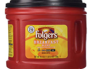 Grab this 25.4-ounce Folgers Breakfast Blend Ground Coffee for under $4 today