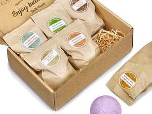 Get the 6-pack of Gaea Bath Bombs and treat yourself