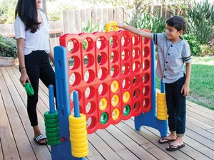 Make tailgating more fun with the ECR4Kids Jumbo 4-to-Score Oversized Game