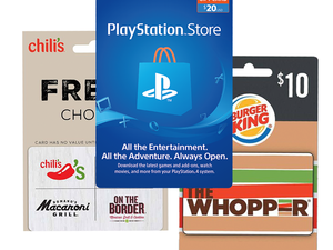 Score 15% off PlayStation, Chili's, and other gift cards in-store at Dollar General