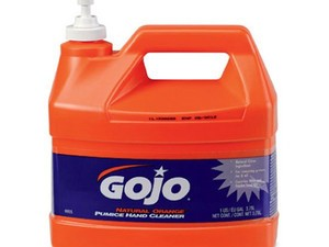 Get that grease off your hands with this $13 gallon of Gojo orange pumice hand cleaner