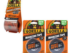 Gorilla mounting tape, packing tape, super glue, and more are discounted at Amazon today