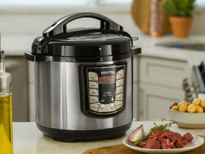 Step up your cooking game with Gourmia pressure cookers and air fryers from $30 today only