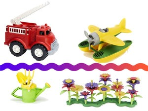 Today only, shop Green Toys like airplanes, trucks, and tea sets from $6