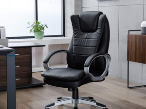 Make boss decisions in this $90 GreenForest Executive Office Chair