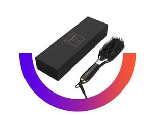 Get silky smooth hair with the $32 O'bella Hair Brush Straightener