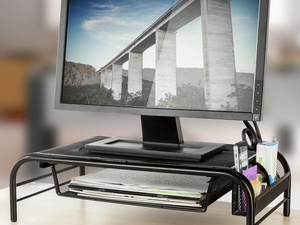 Pick up two of these Halter Mesh Metal Monitor Stands for only $30