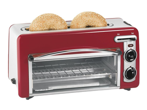 Add Hamilton Beach's 2-in-1 Toastation Toaster Oven to your countertop for $30