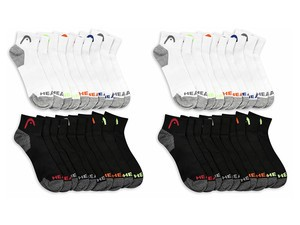 Today only, 20-packs of HEAD Men's athletic socks are $20
