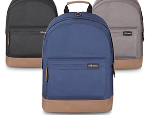 Strap up with one of these $8 waterproof laptop backpacks in blue, black or gray