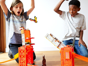 The $16 Hot Wheels Track Builder Stunt Bridge Kit is a blast for young daredevils
