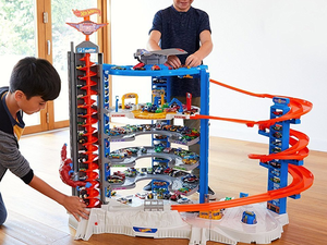 Park over 140 Hot Wheels cars in the $149 Super Ultimate Garage Play Set