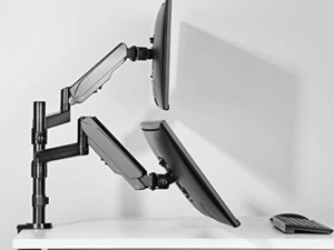 Clear your desk with $35 off Huanuo's versatile Dual Arm Monitor Stand