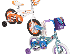 """Disney and Star Wars Huffy 12"""" bikes with training wheels are discounted to $32 today only"""