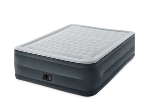 Intex's $33 Comfort Plush Elevated Dura-Beam Airbed features a built-in electric pump