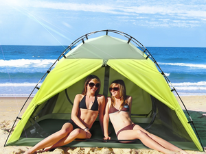 Enjoy beach days and camping trips with Intey's $20 two-person tent