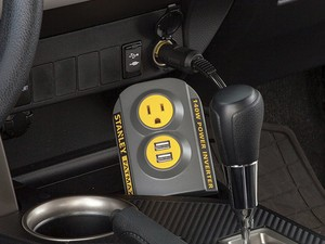 The $11 Stanley FatMax power inverter adds an AC outlet and two USB ports to your car