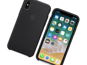 Wrap your iPhone X in Apple's black silicone case for just $19 today