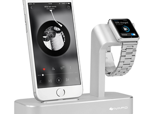 Display your Apple Watch and iPhone with this $14 iVapo 2-in-1 stand