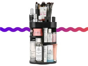 Find your makeup in a hurry with this $16 360-degree rotating makeup organizer