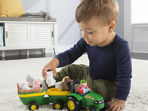 The John Deere Animal Sounds Hayride set is down to $9 today