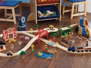 Your little conductor will love this $30 KidKraft Farm Train Set