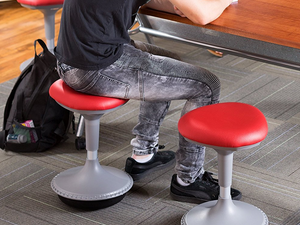 Rock forward and backward with Learniture's $81 height-adjustable Active Learning Stool