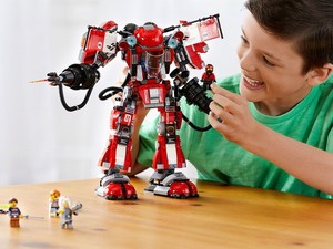 Build your own Fire Mech from the Lego Ninjago movie with this $49 set