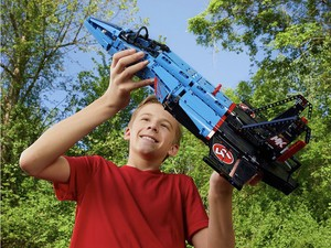 Time to let your imagination soar with the $112 Lego Air Race Jet kit