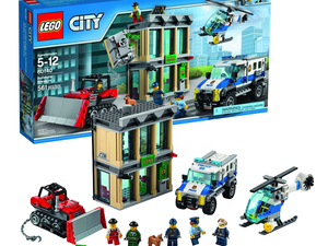 Play cops and robbers with the $44 Lego City Police Bulldozer Break-In set