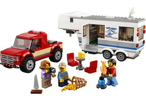 Cruise the countryside with the $24 Lego City Pickup and Caravan