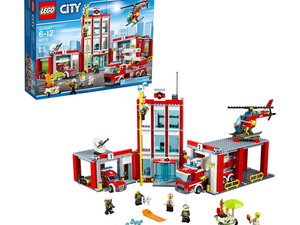 Stop, drop, and roll over to Amazon to grab this $70 Lego City Fire Station set