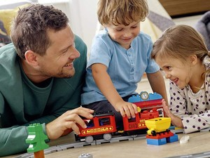 Gift your tiny engineer this Lego Duplo Steam Train Remote Control set for $48