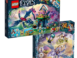 Build treehouses, dragons and more with 20% off select Lego Elves building kits