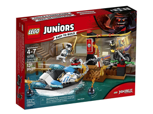 The Lego Juniors Zane's Ninja Boat Pursuit kit is easy to build and down to $16