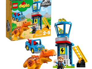 Toddlers can play with this $25 Lego Duplo Jurassic World T-Rex Tower set