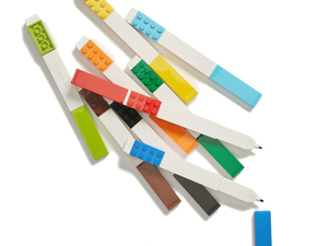 Attach your favorite minifigures to this $10 set of nine multicolored Lego markers