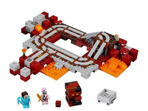Build your own Minecraft Nether Railway with this $17 Lego kit