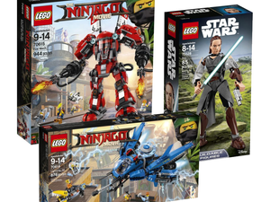 Lego collectors can save 30% off select Star Wars & Ninjago sets for a limited time
