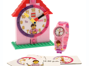 Finally learn how to tell time with the $18 LEGO Time Teacher Watch & Clock set