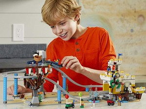 The 923-piece Lego Creator 3-in-1 Pirate Roller Coaster building kit is down to $72