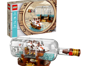 The Lego Ship in a Bottle Set is finally on sale at a $14 discount