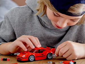 The new Lego Speed Champions Ferrari F40 Competizione set is down to $12