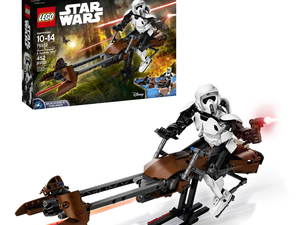This Lego Star Wars Scout Trooper and Speeder Bike set is down to $38